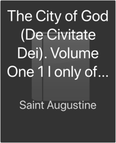 Library saint augustinethe city of god de civitate dei volume one 1 i only of two 2 ii dent everymans library fandeluxe Images