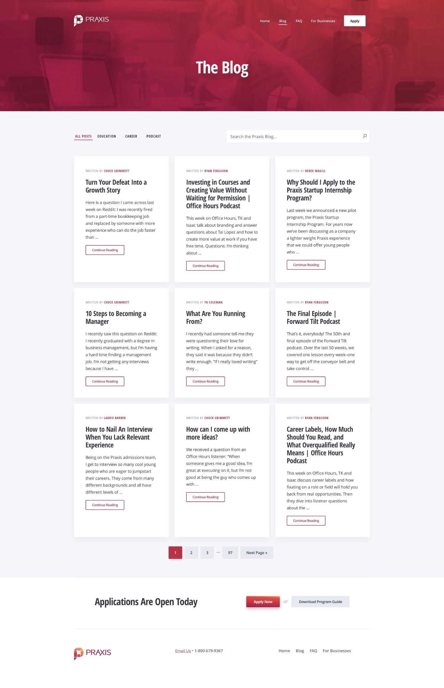 CSS grid blog