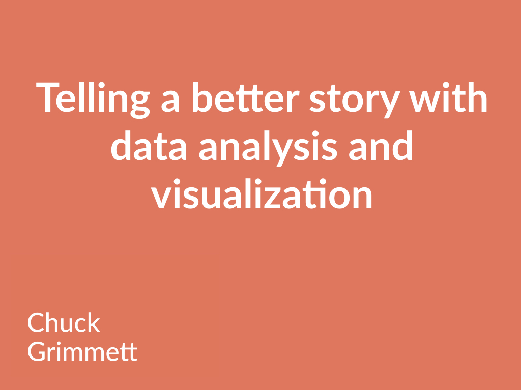 Praxis Data Workshop - Telling a Stronger Story with Data Visualization