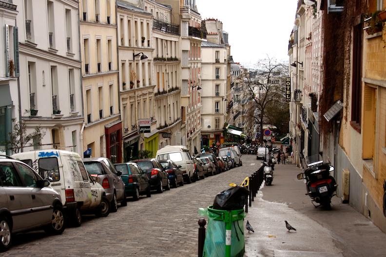 A typical Parisian street